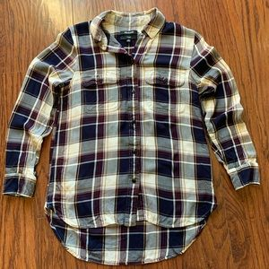 Madewell Classic Boyfriend Button Down Plaid Shirt